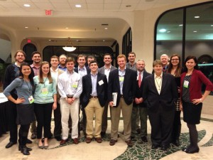 Students and Faculty at the annual meeting for the South Eastern division of the Society of American Foresters in 2014